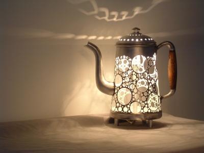 Cafetière lampe de Garbage
