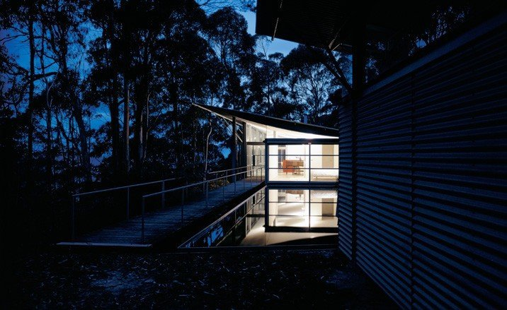 Murcutt-Simpson Lee house-nuit